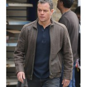 Jason Bourne Matt Damon Brown Jacket