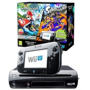 Nintendo Wii U 32GB Mario Kart 8 and Splatoon Premium Pack Black Bundl